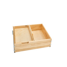 Rev-A-Shelf 4WTCDD-30SC-1 27 in Tiered Deep Drawer w/Soft-Close Slides - Natural