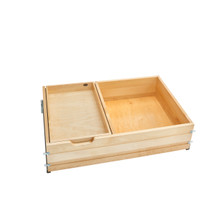 Rev-A-Shelf 4WTCDD-36SC-1 33 in Tiered Deep Drawer w/Soft-Close Slides - Natural