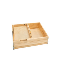 Rev-A-Shelf 4WTCDD-724FLSC-1 28.5 in Frameless Tiered Deep Drawer w/Soft-Close Slides - Natural