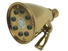 "Kingston Brass CK139A2 3-5/8"" Diameter Adjustable Brass Shower Head With 8 Jets - Polished Brass"