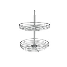 Rev-A-Shelf 5272-20 CR 20 in Chrome D-Shape Lazy Susans 2-Shelf
