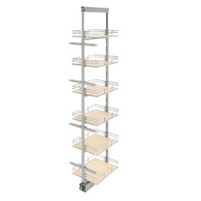Rev-A-Shelf 5273-14-MP 14 in Extra Tall Pullout Maple Pantry w/Soft-Close - Chrome