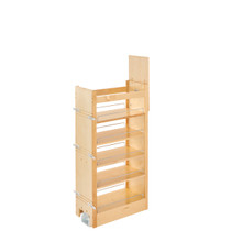 Rev-A-Shelf 448-TP43-11-1 11 in W X 43 in H Wood Pantry Pullout Soft Close - Natural