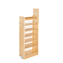 Rev-A-Shelf 448-TP51-11-1 11 in W x 51 in H Wood Pantry Pullout Soft Close - Natural