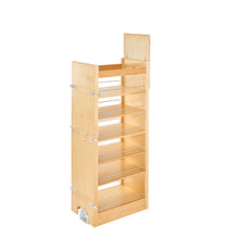 Rev-A-Shelf 448-TP51-14-1 14 in W X 51 in H Wood Pantry Pullout Soft Close - Natural
