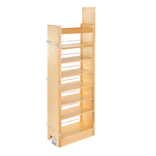 Rev-A-Shelf 448-TP58-11-1 11 in W x 58 in H Wood Pantry Pullout Soft Close - Natural