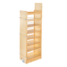 Rev-A-Shelf 448-TP58-14-1 14 in W x 58 in H Wood Pantry Pullout Soft Close - Natural