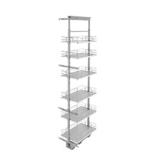 Rev-A-Shelf 5373-13-GR 13 in Chrome Solid Bottom Pantry Pullout Soft Close - Gray