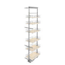 Rev-A-Shelf 5373-13-MP 13 in Chrome Solid Bottom Pantry Pullout Soft Close - Natural