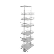 Rev-A-Shelf 5373-16-GR 16 in Chrome Solid Bottom Pantry Pullout Soft Close - Gray