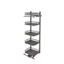 Rev-A-Shelf 5374-24FL-FOG 24 in Flat Wire Swing Out Pantry - Gray