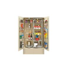 Rev-A-Shelf 5722-36CR 31 in Chrome Chef's Pantry w/ Door Storage