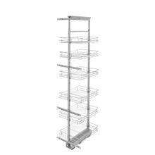 Rev-A-Shelf 5773-16-CR-1 16 in Chrome Basket Pantry Pullout Soft Close