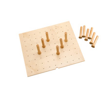 Rev-A-Shelf 4DPS-2421 Small 24 x 21 Wood Peg Board System w/ 9 pegs - Natural