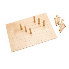Rev-A-Shelf 4DPS-3021 Medium 30 x 21 Wood Peg Board System w/12 pegs - Natural