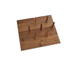 Rev-A-Shelf 4DPS-WN-2421 Small 24 x 21 Wood Peg Board System w/ 9 pegs - Walnut