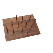 Rev-A-Shelf 4DPS-WN-3021 Medium 30 x 21 Wood Peg Board System w/12 pegs - Walnut