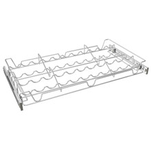 Sidelines 5WSCR-24CR-1 24 in Deluxe Sliding Spice/Can Rack - Chrome