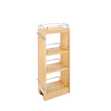 Rev-A-Shelf 448-BBSCWC-6C 6 in Wood Pull Out Wall Organizer w/Soft Close - Natural