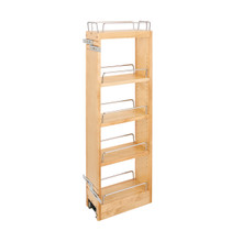 Rev-A-Shelf 448-BBSCWC36-5C 5 in x 36 in H Wood Pull Out Wall Organizer w/Soft Close - Natural