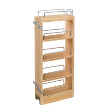 Rev-A-Shelf 448-WC-8C 8 in Wood Pull Out Wall Cabinet Organizer - Natural