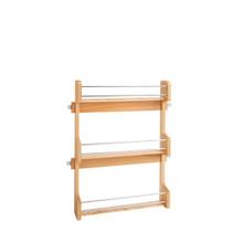 Rev-A-Shelf 4SR-21 21 in Cabinet Door mount Wood 3-Shelf Spice Rack - Natural