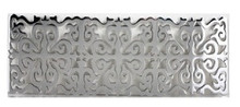 Linkasink G004 SS Hawaiian Quilt Decorative Sink Drain - Satin One Side Polished On Other