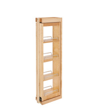 Rev-A-Shelf 432-WFBBSC39-6C 6 in. W x 39 in. H Pull-Out Between Cabinet Wall Filler w/Soft-Close - Natural