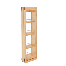 Rev-A-Shelf 432-WFBBSC42-6C 6 in. W x 42 in. H Pull-Out Between Cabinet Wall Filler w/Soft-Close - Natural