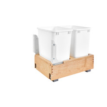 Rev-A-Shelf 4WC-18DM2 Double 35 Qrt Pull-Out Waste Container - Natural