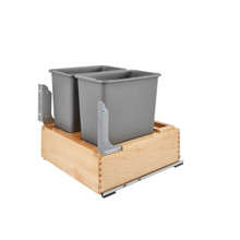 Rev-A-Shelf 4WC-24DM2-SC Double 30 Qrt Pull-Out Waste Container - Natural