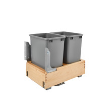Rev-A-Shelf 4WCBM-18DM-2 Double 35 Qrt Pull-Out Waste Container - Natural