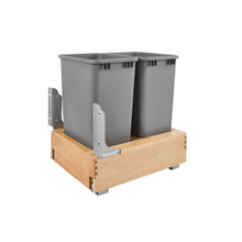 Rev-A-Shelf 4WCBM-2150DM-2 Double 50 Qrt Pull-Out Waste Container - Natural
