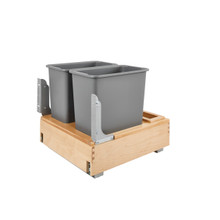 Rev-A-Shelf 4WCBM-2430DM-2 Double 30 Qrt Pull-Out Waste Container - Natural