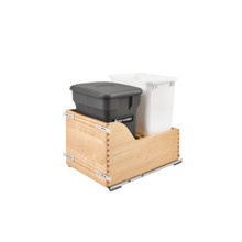 Rev-A-Shelf 4WCSC-1835CKOG-2 35 Qrt Pull-Out Waste Container w/Orion Gray Compost bin - Natural
