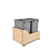 Rev-A-Shelf 4WCSC-1835DMND-2 Double 35 Qrt Pull-Out Waste Container - Natural