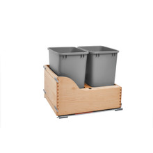 Rev-A-Shelf 4WCSC-2135DM-2 Double 35 Qrt Pull-Out Waste Container - Natural