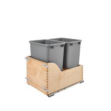 Rev-A-Shelf 4WCSD-1835DM-2 Servo Double 35 Qrt Pull-Out Waste Container - Natural