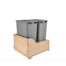 Rev-A-Shelf 4WCSD-2150DM-2 Servo Double 50 Qrt Pull-Out Waste Container - Natural
