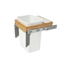 """Rev-A-Shelf 4WCTM-1818DM-1-162 35 Qrt Top mount Waste Container (1-5/8"""" faceframe) - Natural"""