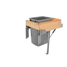 Rev-A-Shelf 4WCTM-RM-1835DM-1 35 Qrt Top mount Waste Container w/Rev-A-Motion - Natural