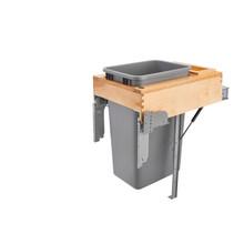 Rev-A-Shelf 4WCTM-RM-1850DM-1 50 Qrt Top mount Waste Container w/Rev-A-Motion - Natural