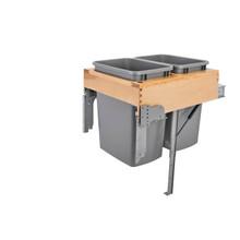Rev-A-Shelf 4WCTM-RM-2135DM-2 Double 35 Qrt Top mount Waste Container w/Rev-A-Motion - Natural