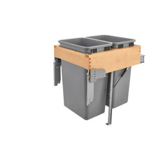Rev-A-Shelf 4WCTM-RM-2150DM-2 Double 50 Qrt Top mount Waste Container w/Rev-A-Motion - Natural