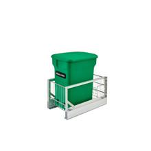 Rev-A-Shelf 5349-15CKGR-1 Aluminum Pull-Out Green Compost bin - Green