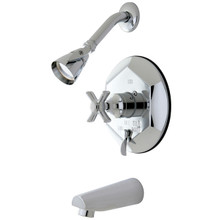 Kingston Brass KB46310ZX Single Handle Tub & Shower Faucet - Polished Chrome