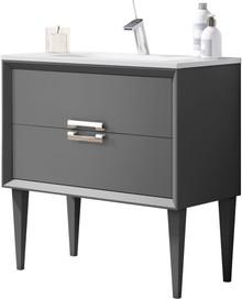 Lucena Bath 42591 32 Inch Grey Décor Tirador Freestanding Vanity
