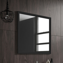 Lucena Bath 2537 32 in W x 22 in. H Black Décor Mirror