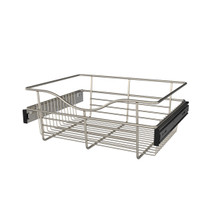 Rev-A-Shelf CB-181407SN-1 18 in Satin Nickel Closet Pullout Basket