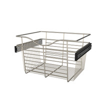Rev-A-Shelf CB-181411SN-1 18 in Satin Nickel Closet Pullout Basket